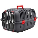 Red Plastic Cat and Dog Carrier Box