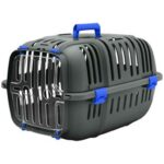 Blue Plastic Cat and Dog Carrier Box
