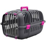 Purple Plastic Cat and Dog Carrier Box