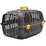Yellow Plastic Cat and Dog Carrier Box