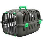 Green Plastic Cat and Dog Carrier Box